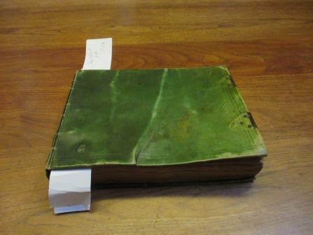 Earl of Roden Commonplace Book - Green Binding