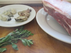 lamb stuffed with oysters