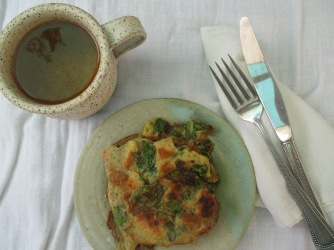 Frittars of eggs and herbs