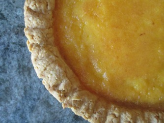 Description: Close up of lemon tart