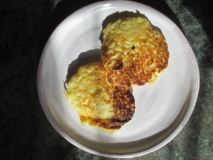 cooked parsnip cakes