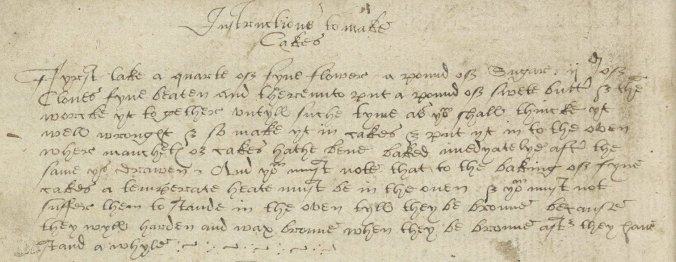 image of recipe in manuscript