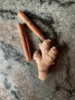 cinnamon and ginger