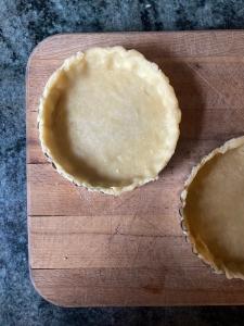 pastry in tart pans